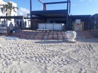 Illegal construction on  Kim Sha beach
