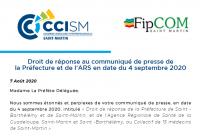 La CCISM et la Fipcom répondent  à la préfète