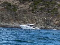 Un bateau échoué près de Pinel